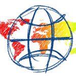 Getekende wereldbol
